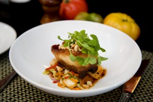 Crispy Sweet & Spicy Glazed Pork Belly with Kimchi & crushed peanuts_2