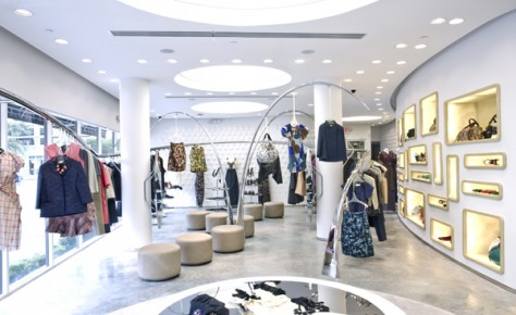 In the heart of the design district is the splashy art deco meets space age boutique marni the italian fashion label has a cult following that love the