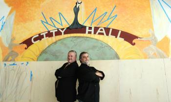 City Hall's Steve Haas and Tom Azar. Photo courtesy of Mishael Fernandez.