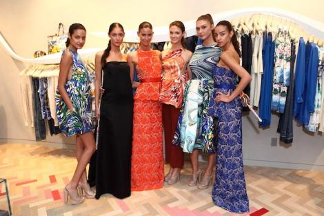 Models showcase McCartney's fashion at her Bal Harbour store opening. Courtesy of Miami.com